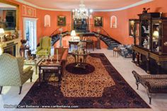 Decadent: The furnishings hark back to the baronial time at which the house was built...