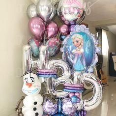 Birthday Balloon Decorations, Birthday Balloons, Birthday Party Decorations, Dinasour Birthday, Frozen Balloons, Balloon Bouquet Delivery, Balloon Arrangements, Balloon Gift, Frozen Birthday Party