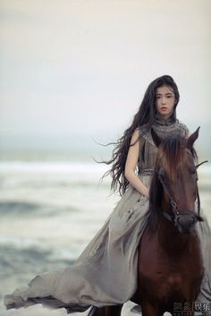 China Lady: Xin Yuan Zhang - Top Cute of China lady Story Inspiration, Character Inspiration, Fantasy Characters, Female Characters, Fierce, Portraits, Horse Photography, Up Girl, Beautiful Horses
