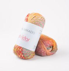 PHIL MIKADO - Fils & laines fantaisie - Phildar Fibres, Bracelet Patterns, Crochet Projects, Place Cards, Place Card Holders, Yarns, Colouring, Macrame, Bracelets