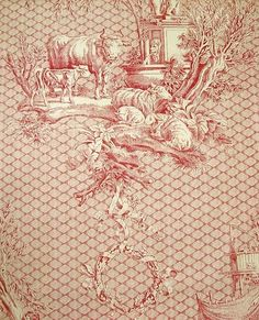 French design toile of children and doves, in navy blue printed on a cream cotton. Traditional toile design fabric available to buy online. Chinoiserie, Toile Wallpaper, Victorian Farmhouse, French Fabric, Textile Patterns, Textiles, Red And White, White Art, Decoration