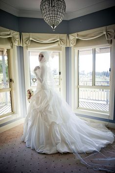 i thought i would start this thread to have all the long sleeve/ or muslim bride members share their wedding photos, and wedding gowns to help other l Muslim Wedding Dresses, Muslim Brides, Wedding Dress Train, Applique Wedding Dress, Wedding Bridesmaid Dresses, Dream Wedding Dresses, Muslim Couples, Wedding Gowns, Wedding Hijab
