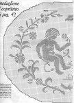 schemi uncinetto filet centri rose angeli fiori