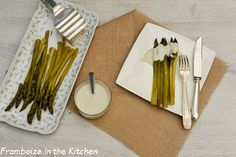 Asperges vertes sauce roquefort | Framboize in the kitchen