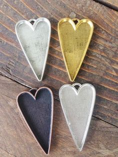 50 Pcs Lead Free Antique Bronze Plated Heart Charms Pendants for Jewelry Making