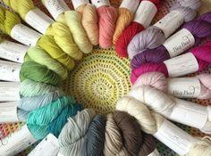 Big Bad Wool Weepaca at Loop. Loop, London. www.loopknitlounge.com.  Just look at these gorgeous colors!