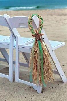 Beach Wedding Decor - Chair Decorations