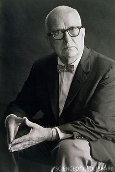 """R. Buckminster """"Bucky"""" Fuller, American engineer, architect, systems theorist, author, designer and futurist, president of Mensa, inventor of the Geodesic dome (an inexpensive and robust sphere constructed with interconnected triangles) and Dymaxion car, holder of 25 patents, and populariser of terms including """"Spaceship Earth"""". He left Harvard without graduating, but was awarded over 40 honorary doctorates. www.bfi.org/about-bucky"""