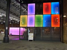 Old Spitalfields Market; Exterior LED panel lighting by www.thelightlab.com