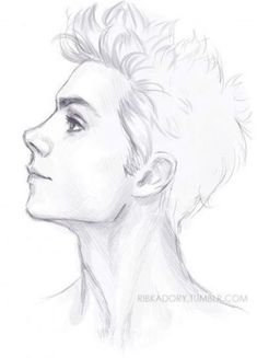 16 Ideas for drawing faces boy sketch Boy Sketch, Face Sketch, Anime Sketch, Boy Drawing, Drawing Faces, Drawing Sketches, Drawing Hair, Drawing Ideas, Realistic Hair Drawing