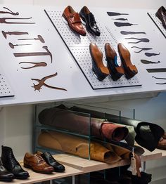 British heritage footwear brand Joseph Cheaney has opened a new store on Henrietta Street in Covent Garden, making it the fifth in the capital. Shoe Store Design, Shoe Shop, Shop Interior Design, Retail Design, British Store, Schuster, Leather Workshop, Shoe Display, Shop Front Design