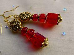 Dies sind die Lieblings Ohrringe der Funkel Fee:  Rot ist eine Signalfarbe und die Farbe der Liebe. In leuchtender und lichter Transparenz entfaltet d