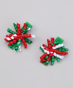 Take a look at this Green & Red Mini Korker Clip Set by The Hair Candy Store on #zulily today!