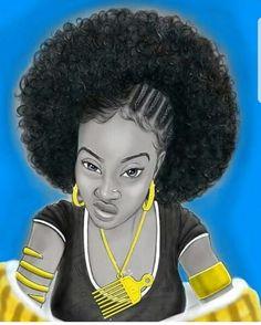 Black Love Art, Black Girl Art, Black Is Beautiful, Black Girl Magic, Art Girl, Black Girls, Beautiful Artwork, African American Art, African Art