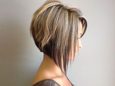 Side View of Graduated Bob Haircut - Cute Short Haircut 2014...just slightly longer than mine currently