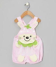 This Pink Cat Shortalls - Infant is perfect! #zulilyfinds