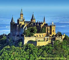 Hohenzollern Castle, c 50 kilometers south of Stuttgart, Germany - www.castlesandmanorhouses.com