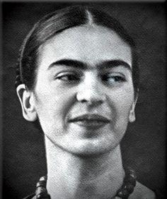 Frida Kahlo smiling!