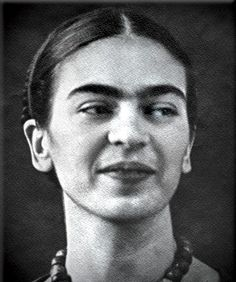 Frida Kahlo smiling!