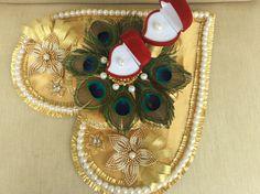 Vrishti creations- Engagement Ring Tray 9669207565 , 9826116090 Engagement Ring Platter, Engagement Ring Holders, Engagement Decorations, Indian Wedding Decorations, Engagement Ideas, Wedding Crafts, Wedding Art, Wedding Ideas, Thali Decoration Ideas