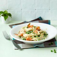 Rezept: Spaghetti mit Lachs und Erbsen
