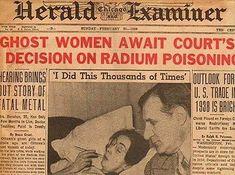 Image result for radium girls newspaper