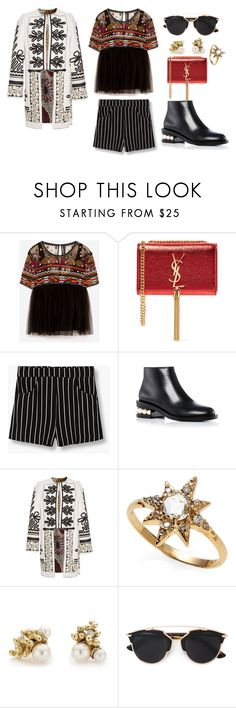 """""""pearl"""" by mariellgzz on Polyvore featuring Yves Saint Laurent, MANGO, Nicholas Kirkwood, Alix of Bohemia, Anzie, Ruth Tomlinson and Christian Dior"""