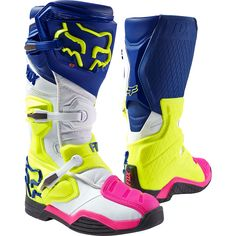 Fox 2017 Comp 8 Navy/White/Yellow Boots