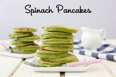 Spinach Pancakes from Weelicious