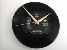 "Sting- all this time   7"" record clock gift £6.99"