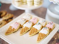 I love these ice cream cone sugar cookies!