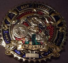 "Chief Petty Officer (CPO) Challenge coin ""EL CID"" USN Chiefs Fast Ship!"