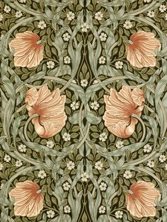 Buy Bay Leaf / Manilla, 210388 Morris & Co. Pimpernel Wallpaper from our Wallpaper range at John Lewis & Partners. Free Delivery on orders over William Morris Wallpaper, William Morris Art, Morris Wallpapers, William Morris Patterns, Purple Wallpaper, Trendy Wallpaper, Fleurs Art Nouveau, Red Colour Palette, Bay Leaves