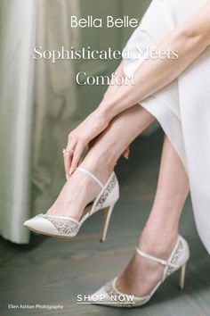 Comfortable and stunning shoes are possible with Emma. Crystal sequins sparkle so bright and is made secure with an ankle strap, so you get stunning and comfortable wedding shoes. Gold Wedding Shoes, Wedding Shoes Heels, Walking Down The Aisle, Low Heels, Perfect Wedding, Ankle Strap, Elegant, Sequins, Sparkle