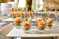 "Love the idea of doing small appetizers in shot glasses...like a trio of small salads or seafood ""bites""..."