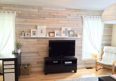 My pallet wall and picture collage.