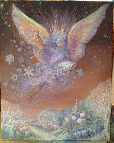 "Art by Josephine Wall ""snow angel """