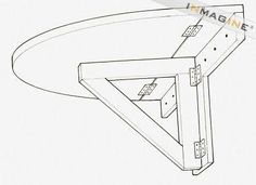 Image result for wall mounted collapsible table design