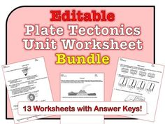 ***********************HUGE SAVINGS!**************************This *EDITABLE* worksheet bundle has 13 worksheets for the Dynamic Crust Unit of the Earth Science Regents curriculum. Many questions include diagrams, graphs, and charts for students to analyze.
