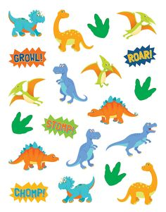 """Dinosaurs Stickers are acid-free and lignin-free. Measure approx. 1"""". 120 stickers per pack."""