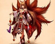 Kitsune are foxes found in Japan that have magical powers. Most kitsune are protectors of the humans. Neko, Fantasy Characters, Female Characters, Mago Anime, Manga Kawaii, Gumiho, Fox Spirit, Anime Sensual, Fox Girl