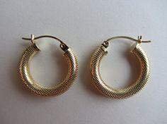 14k Gold Hoop Earrings 3/4 x 4.5m  1.8g by GoldnBeads on Etsy
