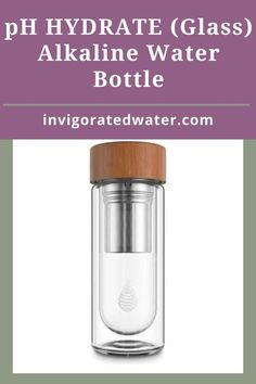 Single use water bottles are terrible for our planet, and most reusable plastic water bottles are down right ugly (not our pH REVIVE of course :) To top it off, most water filter bottles offer very limited filtration capabilities. pH HYDRATE is made from super-tough food grade borosilicate glass. Its double-walled, so the inside of your bag will stay dry. The slim design easily fits in your handbag or laptop bag, and we've included a silicone sleeve making it easy to hold…