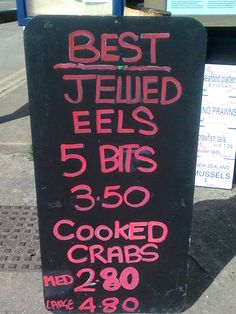 Apparently they're gassing eels down in Whitstable. (Bit tasteless, sorry)
