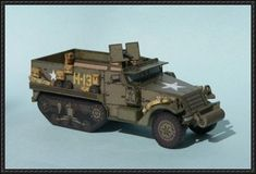 WWII M3 Half-track Armored Vehicle Paper Model Download