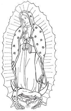 Imágenes De La Virgen De Guadalupe Para Colorear Dibujos