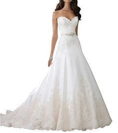 Mylilac Women's Strapless Sorded Lace Tulle And Satin A-line Wedding Dress, http://www.amazon.com/dp/B01HB97TRO/ref=cm_sw_r_pi_awdm_x_sn2VxbXAE0D9Q