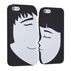 iPhone 5 / 5S Ozaki O!Coat Lover Snap-on Skal Forever - Svart / Vit #Valentine #AllaHjärtansDag