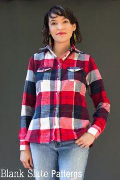 c94ba1f1912 Novelista Shirt Sewing Pattern for Women - Button Down Shirt Sewing Pattern  by Blank Slate Patterns