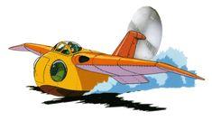 """the flying boat """"Falco"""" / Future Boy Conan (Mirai shônen Konan) (1978)"""